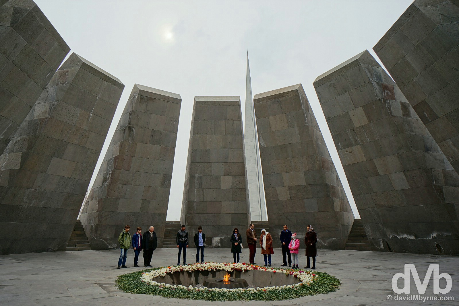 The memorial of Tsitsernakaberd, the Armenian Genocide Memorial & Museum in Yerevan, Armenia. March 24, 2015.