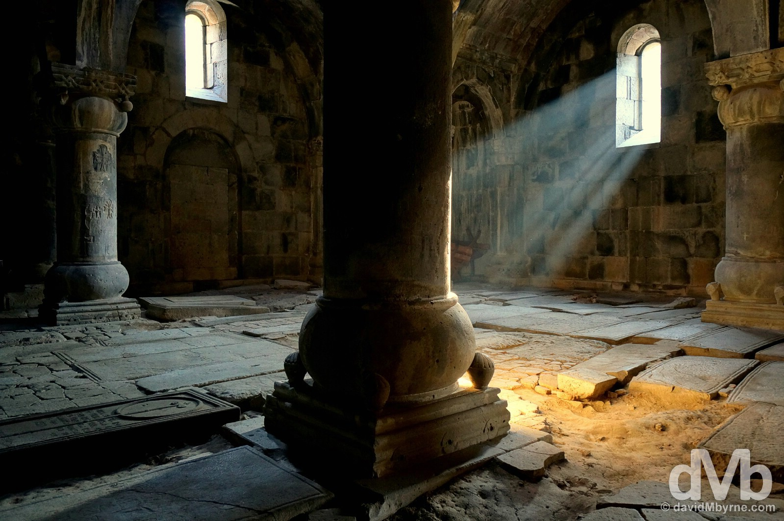 The musty interior of the UNESCO-listed Sanahin Monastery in Lori Marz, Armenia. March 16, 2015.