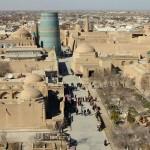 The view of Khiva, Uzbekistan, as seen from the city's 47-metre high Juma Minaret. March 15, 2015.