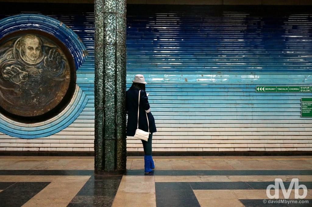 Kosmonavtlar Metro Station of the Uzbekistan Line of the metro in Tashkent, Uzbekistan. March 17, 2015.
