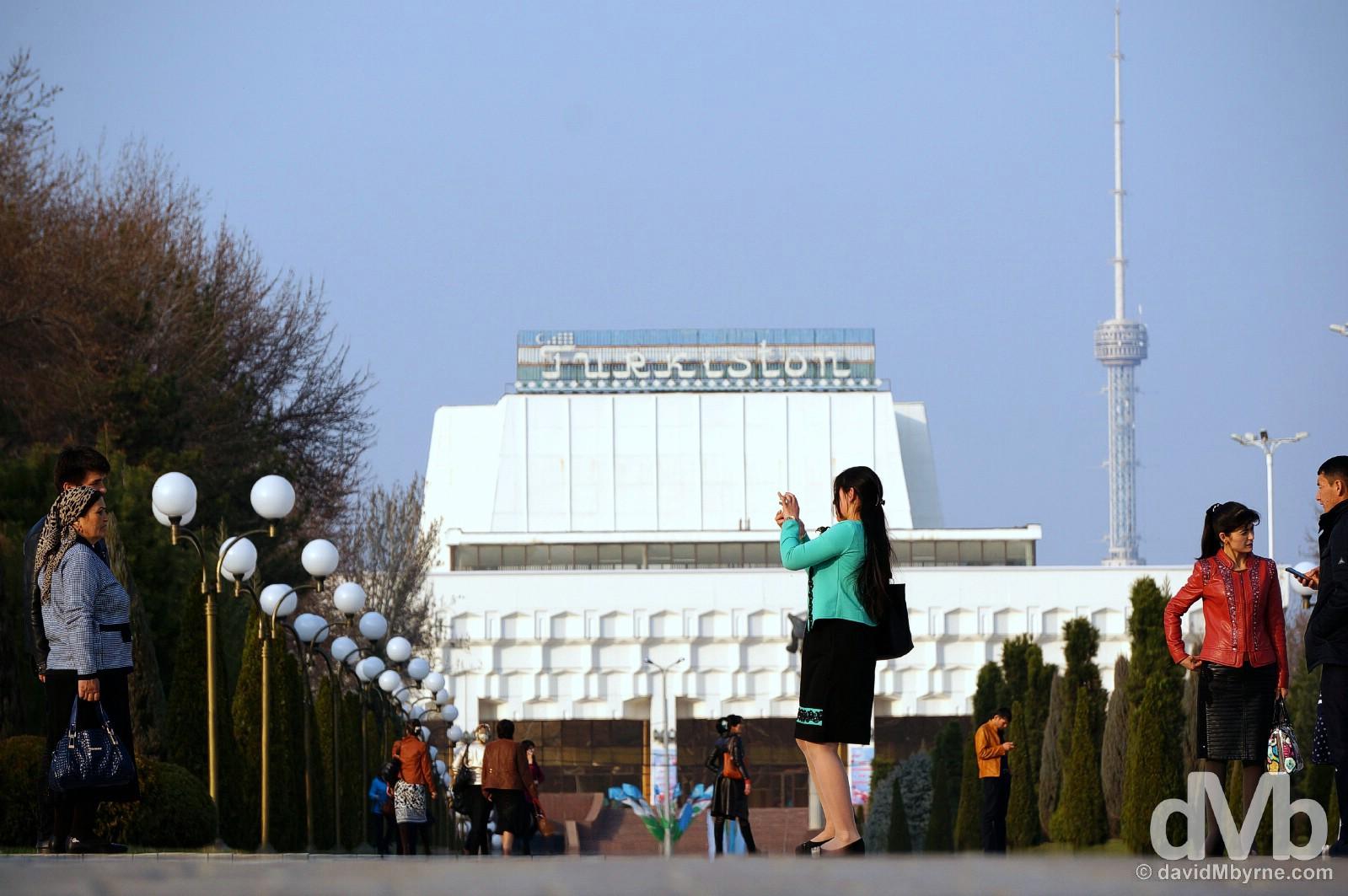 Mustaqillik Maydoni, Tashkent, Uzbekistan. March 5, 2015.