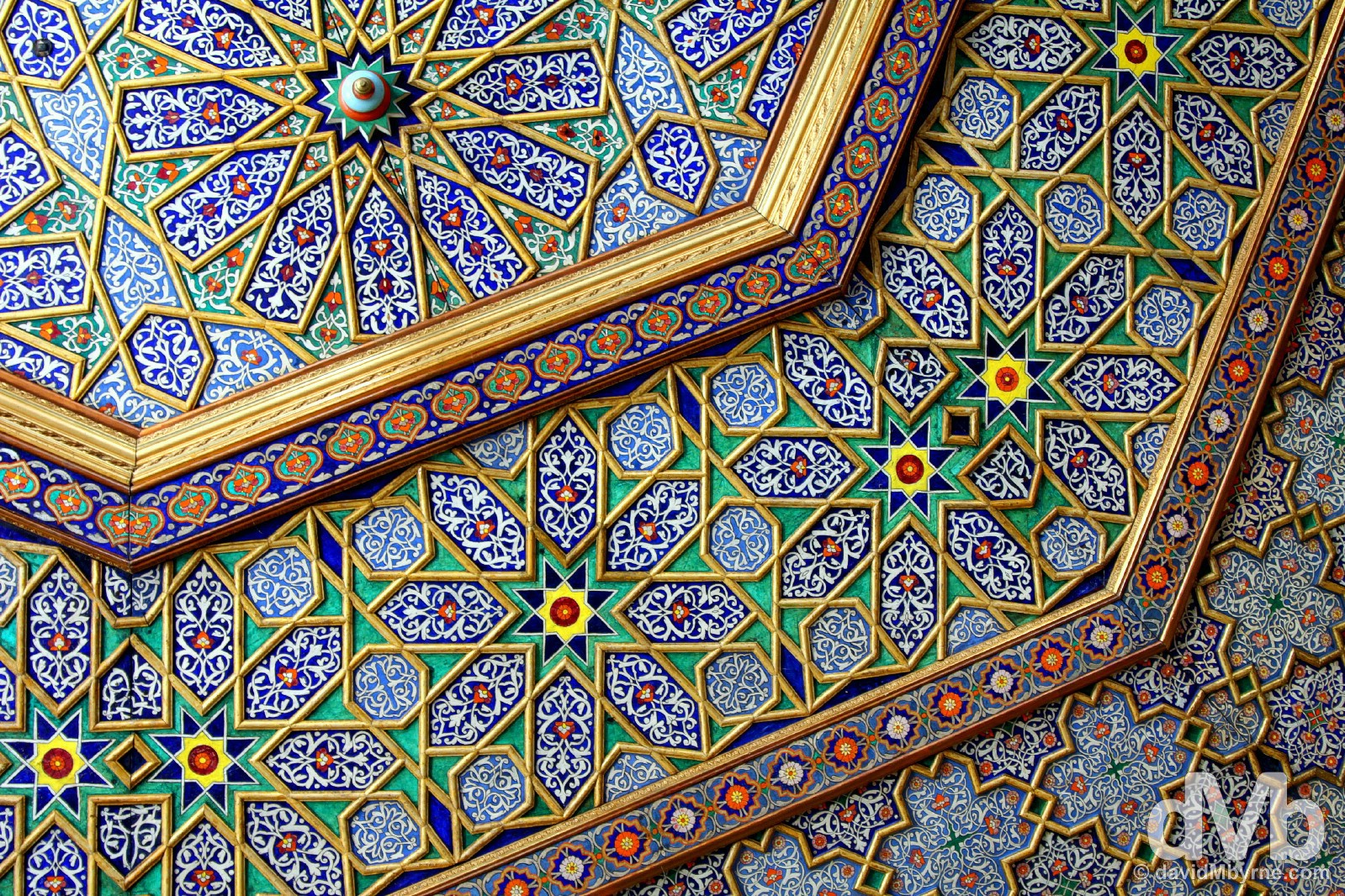 Ceiling detail in the Palace of Narallabay/Isfandiyar Palace in Khiva, Uzbekistan. March 15, 2015.