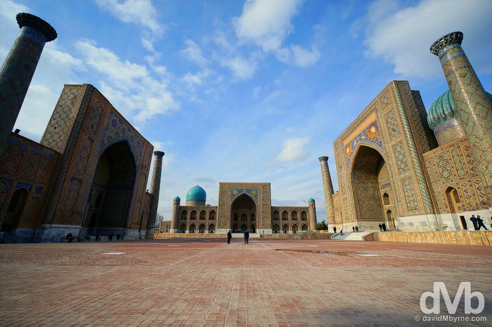 The Registan in Samarkand, Uzbekistan. March 8, 2015.