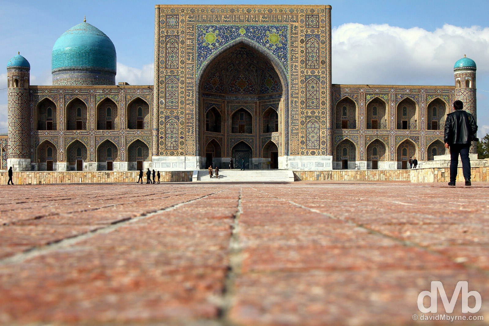 The Tilla-Kari Medressa of the Registan in Samarkand, Uzbekistan. March 8, 2015.