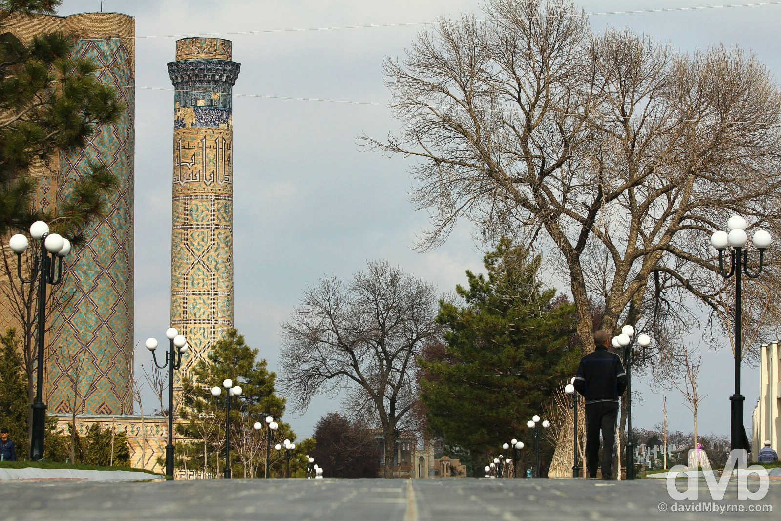 The new thoroughfare of Toshkent in the 'new' Samarkand, Uzbekistan. March 8, 2015.
