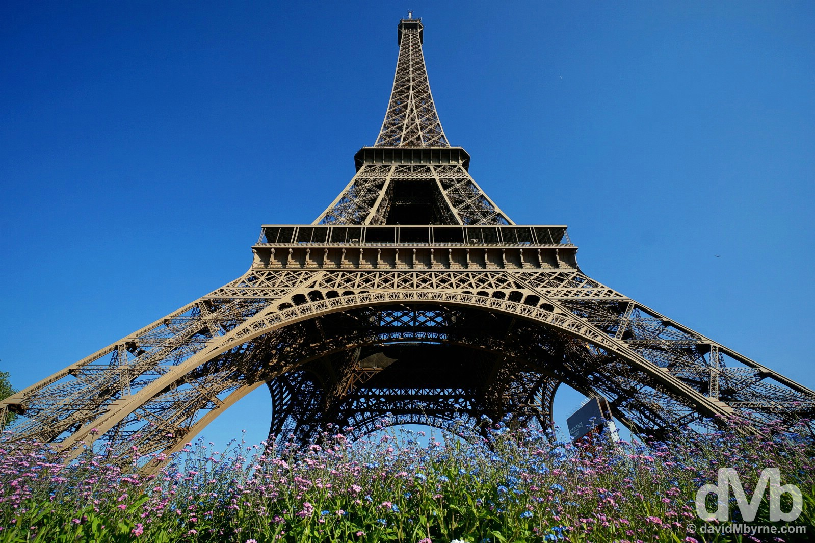 Eiffel Tower, Paris, France. April 23, 2015.