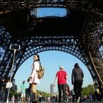 Selfie Queen. Eiffel Tower, Paris, France. April 23, 2015.