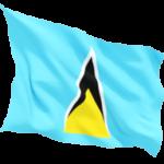 saint_lucia_fluttering_flag_256