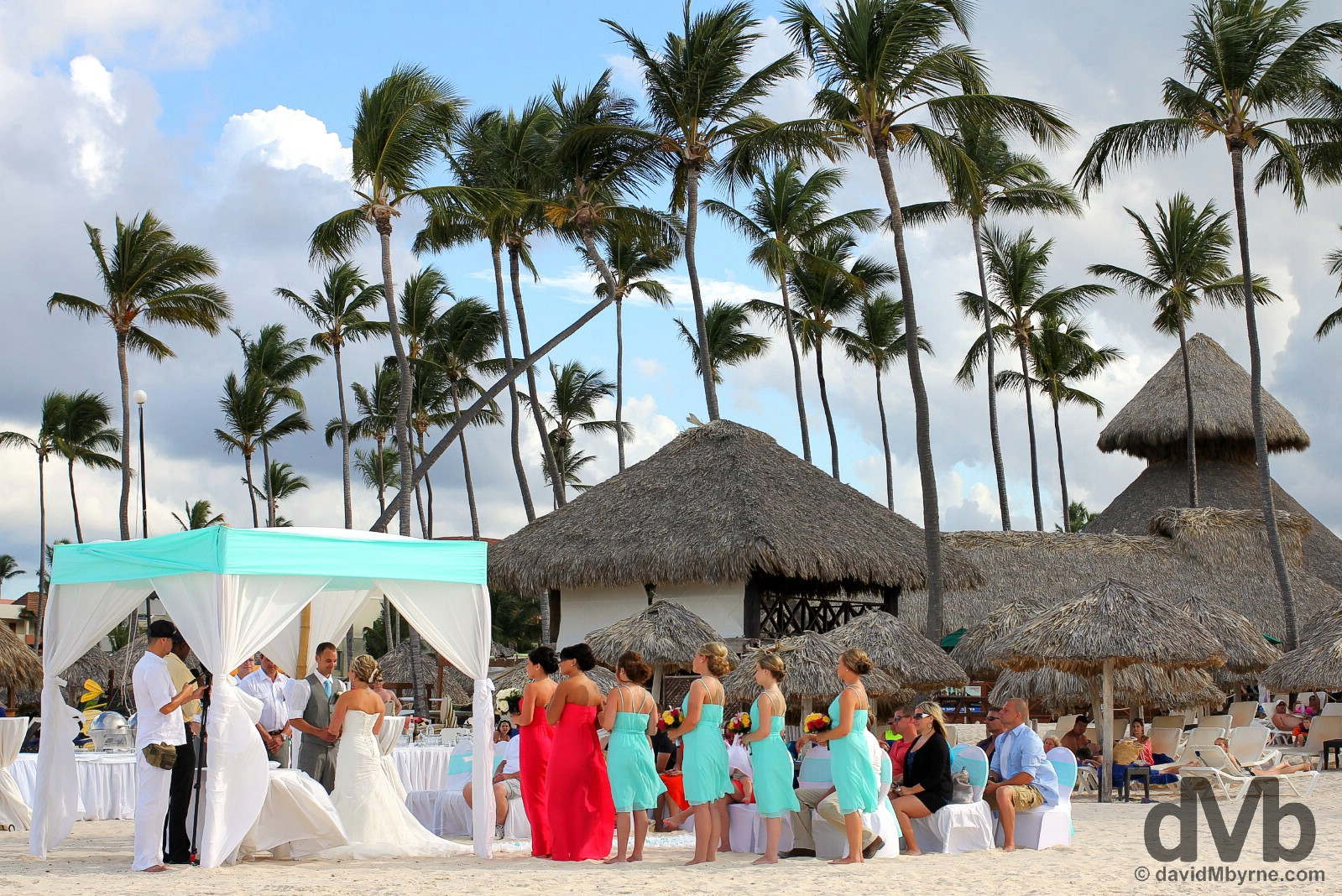A wedding on Bavaro Beach, Punta Cana, Dominican Republic. May 27, 2015.