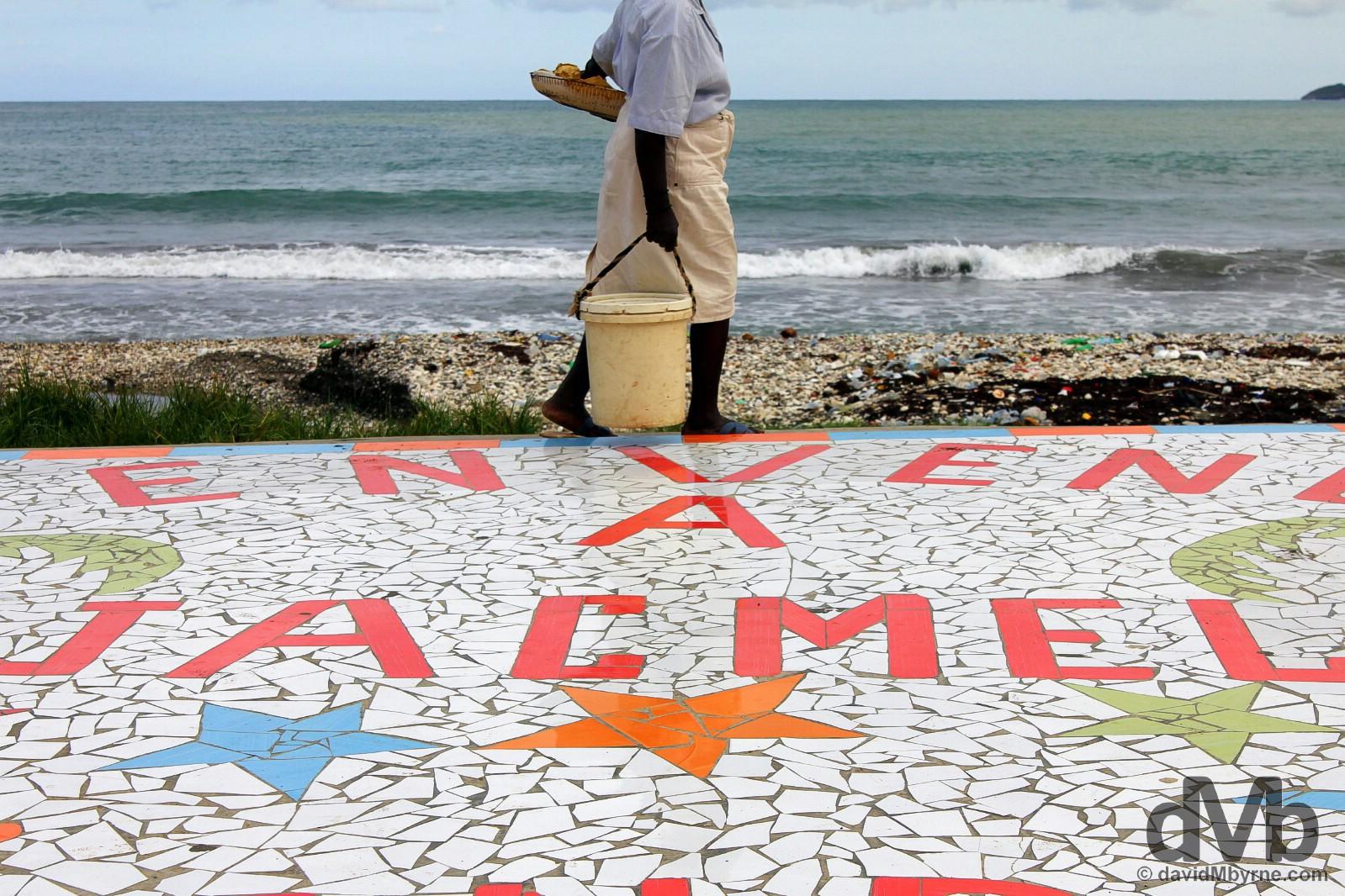 Down on the beachfront promenade in Jacmel, Haiti. May 19. 2015.