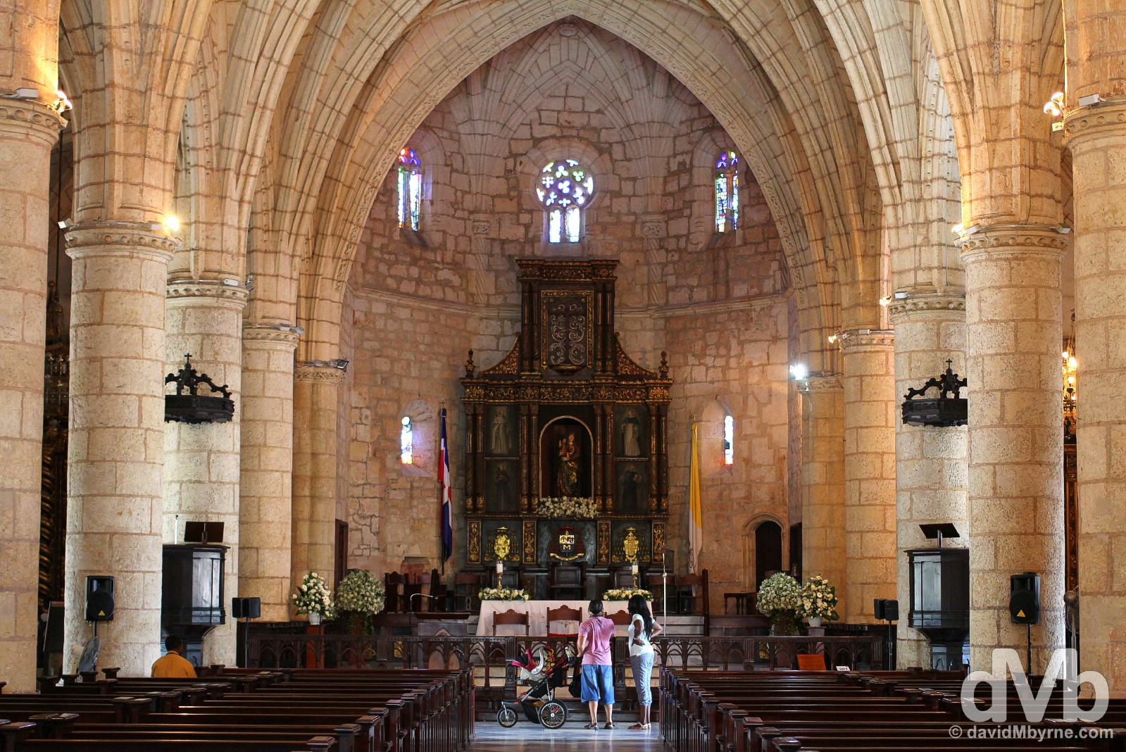 The interior of the Catedral Primada de America in Zona Colonial, Santo Domingo. Dominican Republic. May 26, 2015.