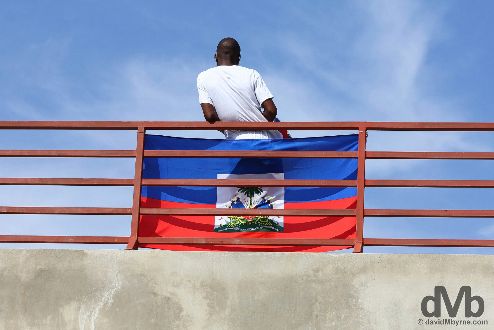 Flag Day in Champs de Mars, Port-au-Prince, Haiti. May 18, 2015.