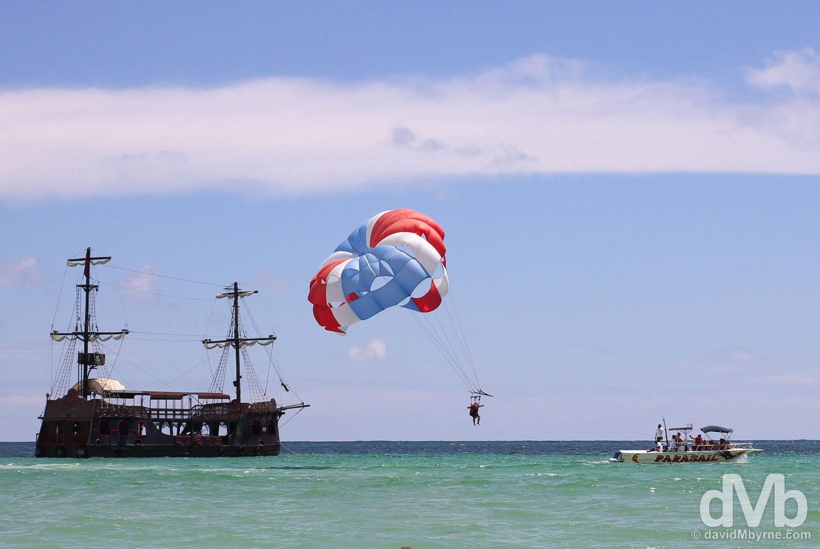Offshore of Bavaro Beach, Punta Cana, Dominican Republic. May 28, 2015.