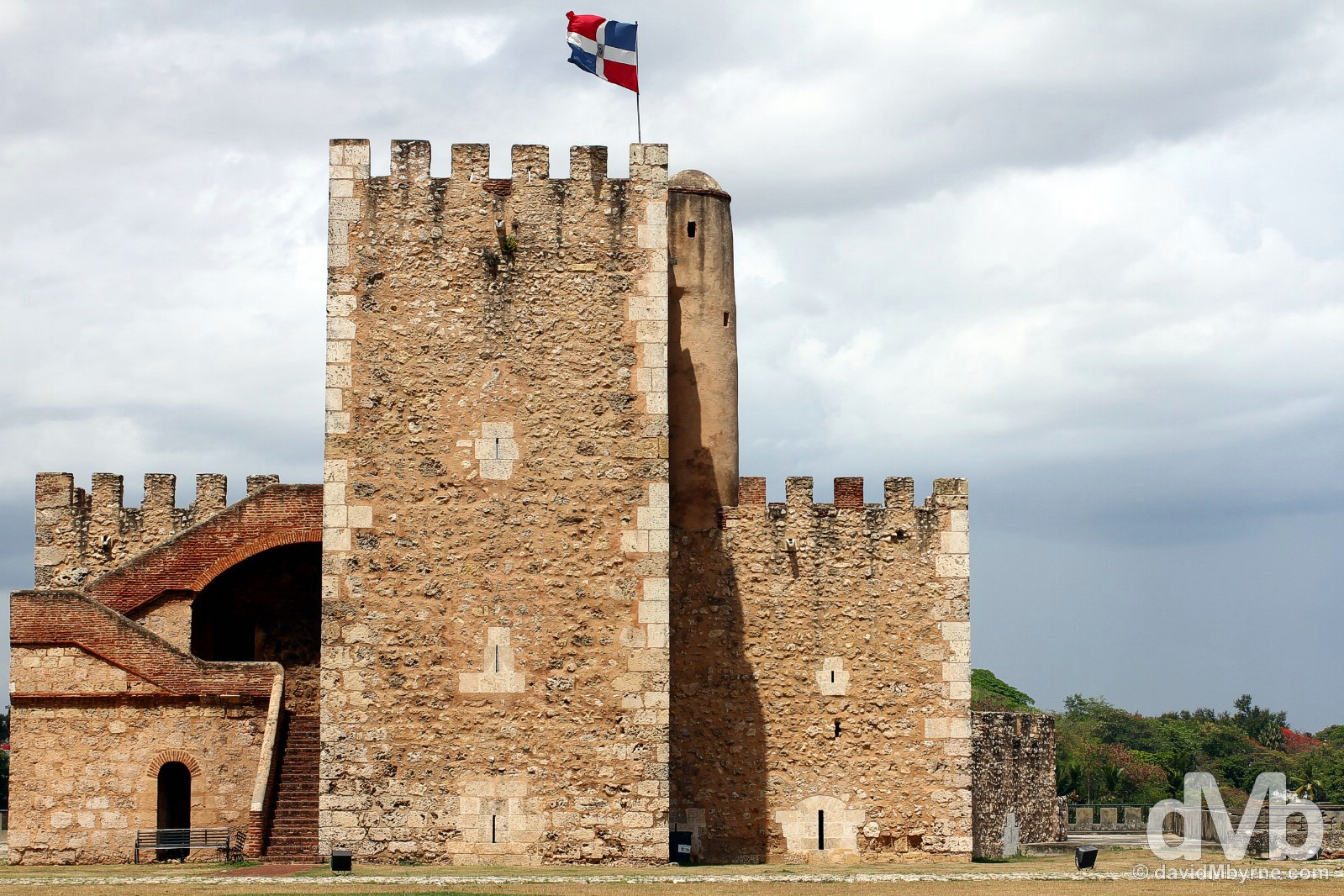 Torre del Homenaje (Tower of Homage) in Fortaleza Ozama (Ozama Fortress), Santo Domingo, Dominican Republic. May 26, 2015.