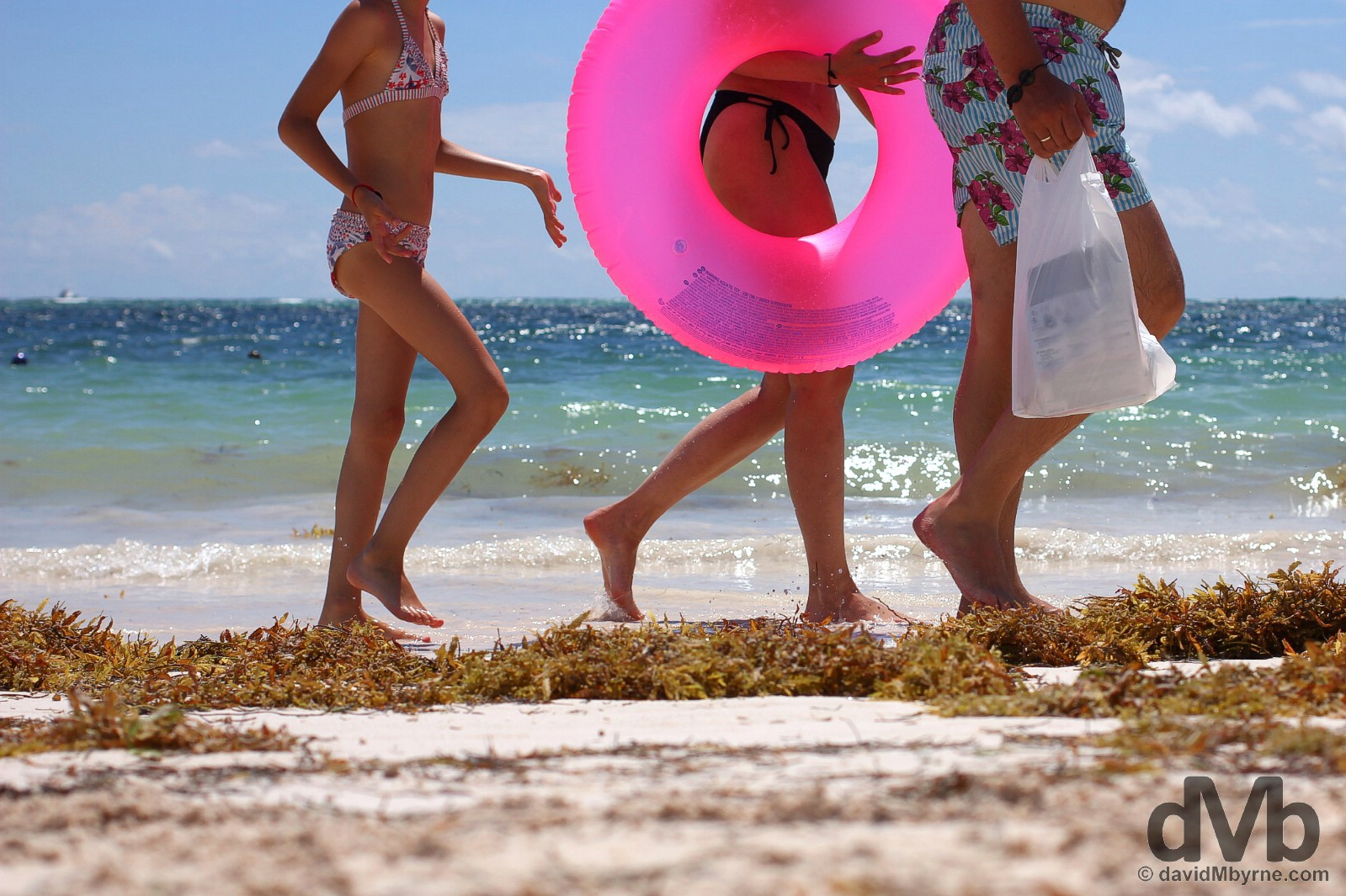 Strolling on Bavaro Beach, Punta Cana, Dominican Republic. May 28, 2015.