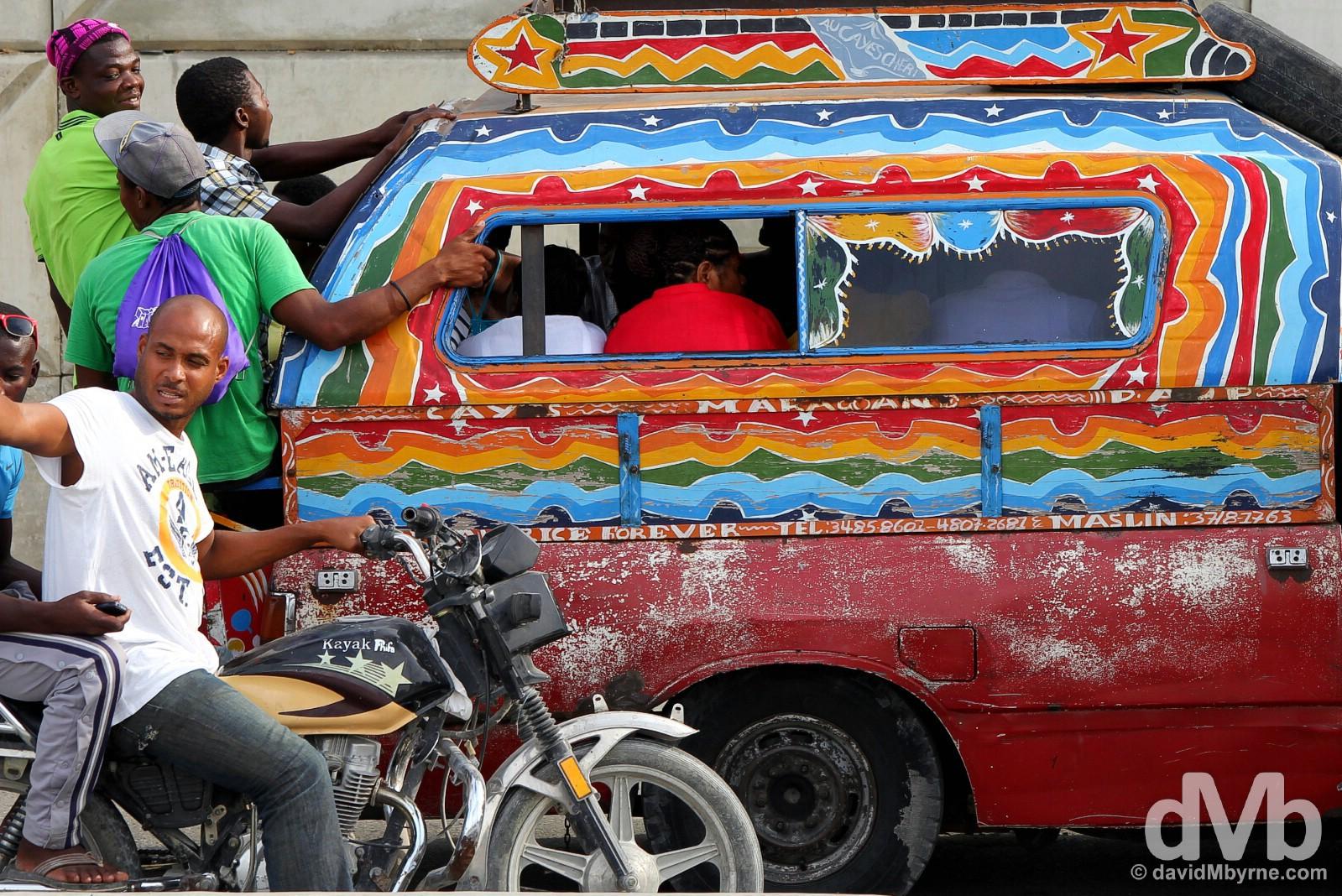 Traffic on Delmas, Port-au-Prince, Haiti. May 17, 2015.
