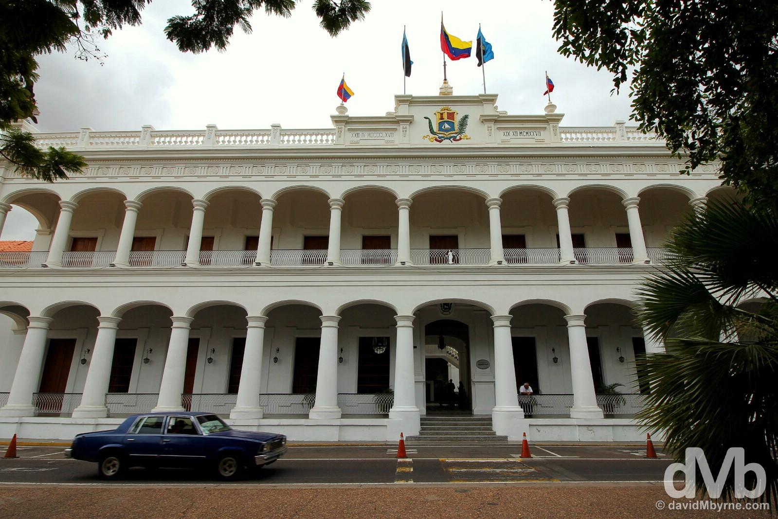 Government Palace in Plaza Bolivar, Maracaibo, Venezuela. June 22, 2015.