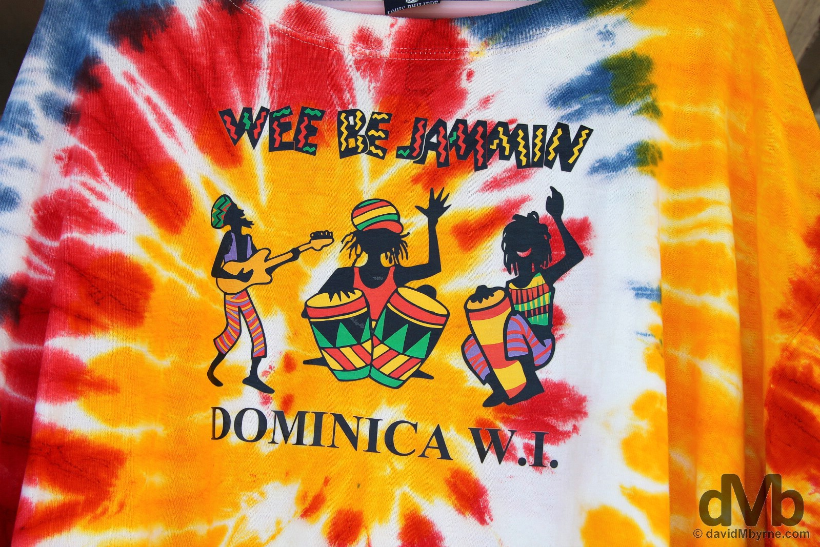 Wee be jammin. Old Market, Roseau, Dominica, Lesser Antilles. June 10, 2015.