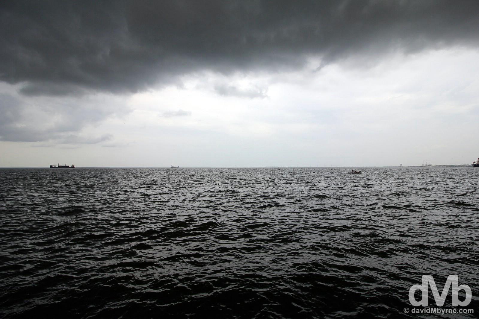 Lago (Lake) Maracaibo as seen from Vereda del Lago in Maracaibo, Venezuela. June 22, 2015.