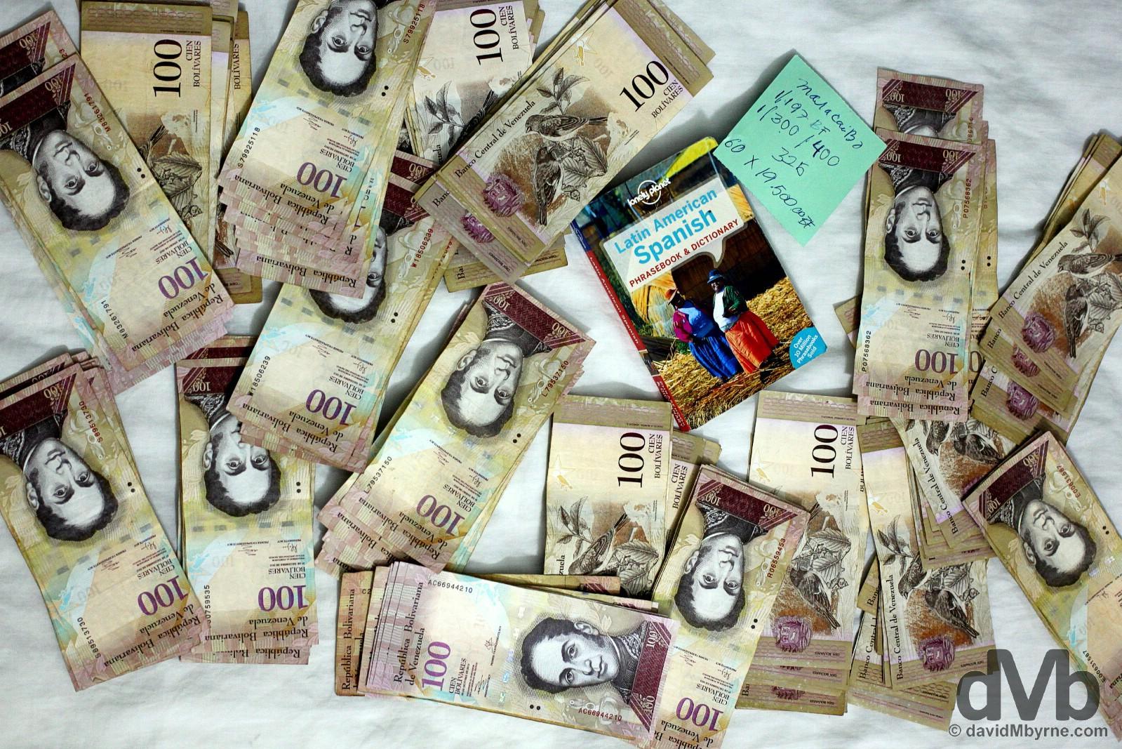 19,500 Venezuelan bolivars. Maracaibo, Venezuela. June 22, 2015.