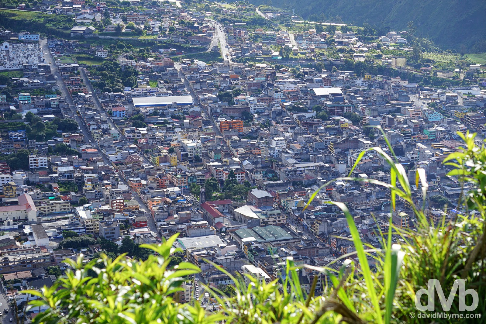 Banos, Ecuador as as seen from the Bellavista lookout overlooking the town. July 9, 2015.