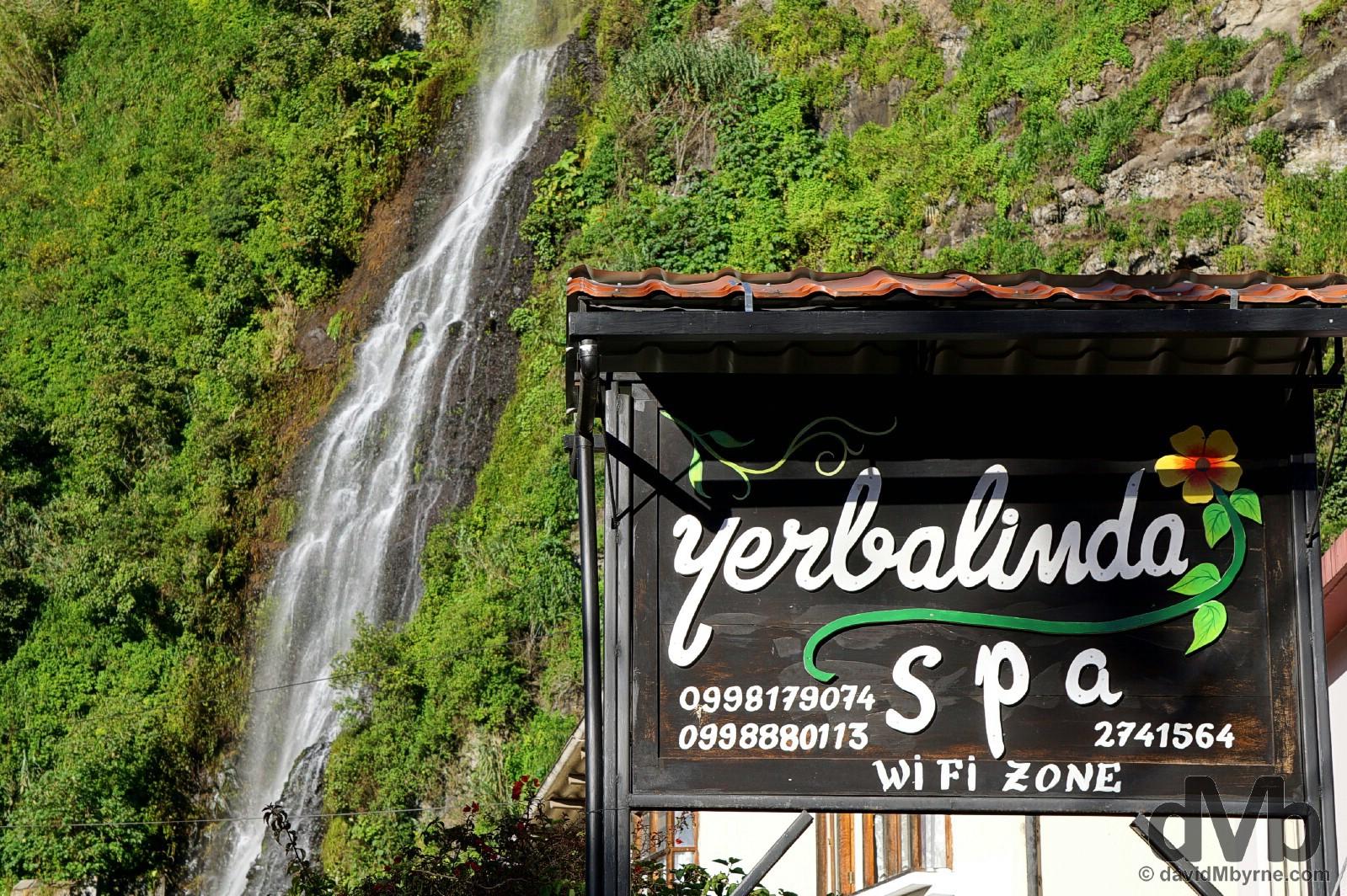 Waterfalls & spa resorts. That's Banos, Ecuador. July 9, 2015.