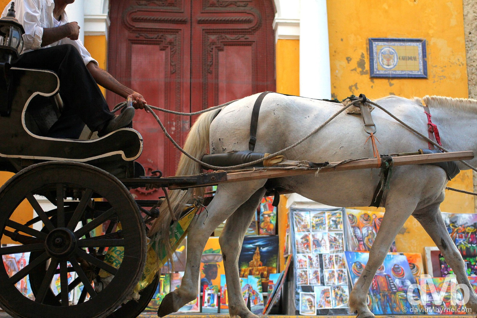 Outside Catedral in Old Town Cartagena, Colombia. June 24, 2015.