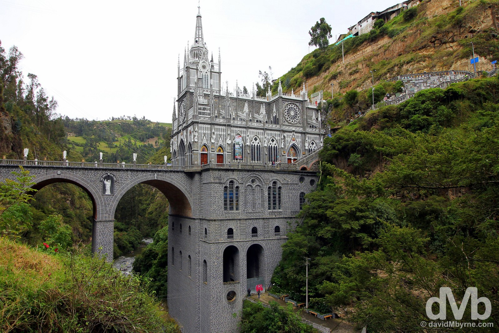El Santuario de las Lajas outside the border town of Ipiales, southern Colombia. July 2, 2015.