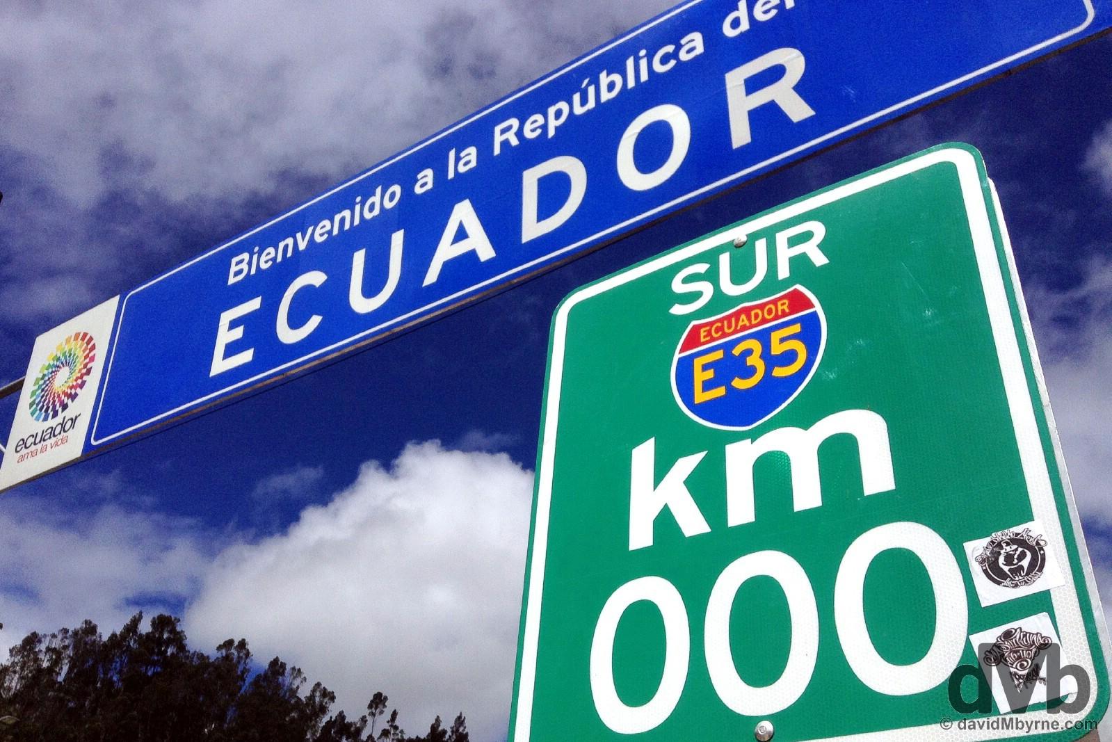 Entering Ecuador at the Rumichaca bridge border crossing with Colombia. July 2, 2105.
