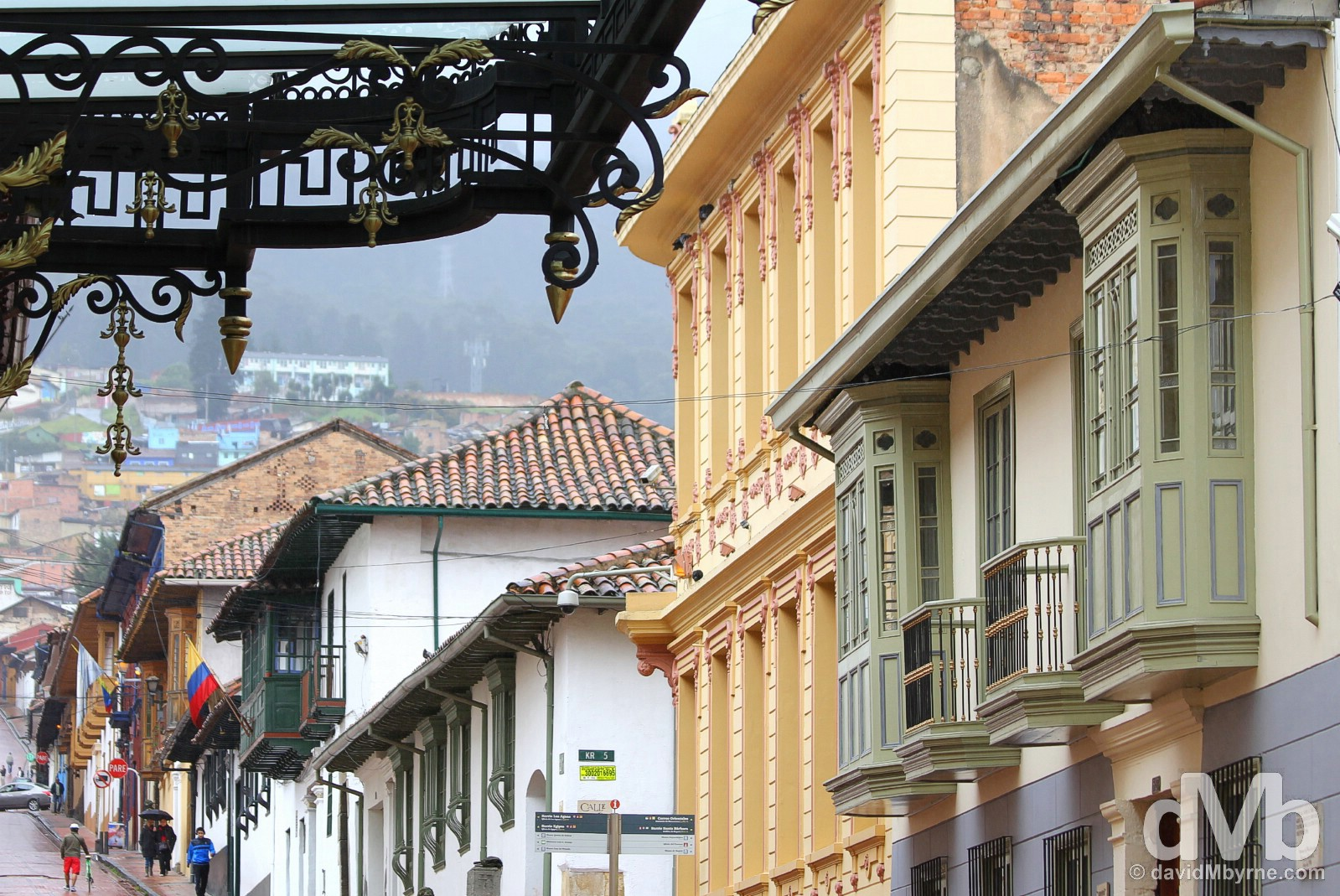 The La Candelaria district in the historic centre of Bogota, Colombia. June 29, 2015.