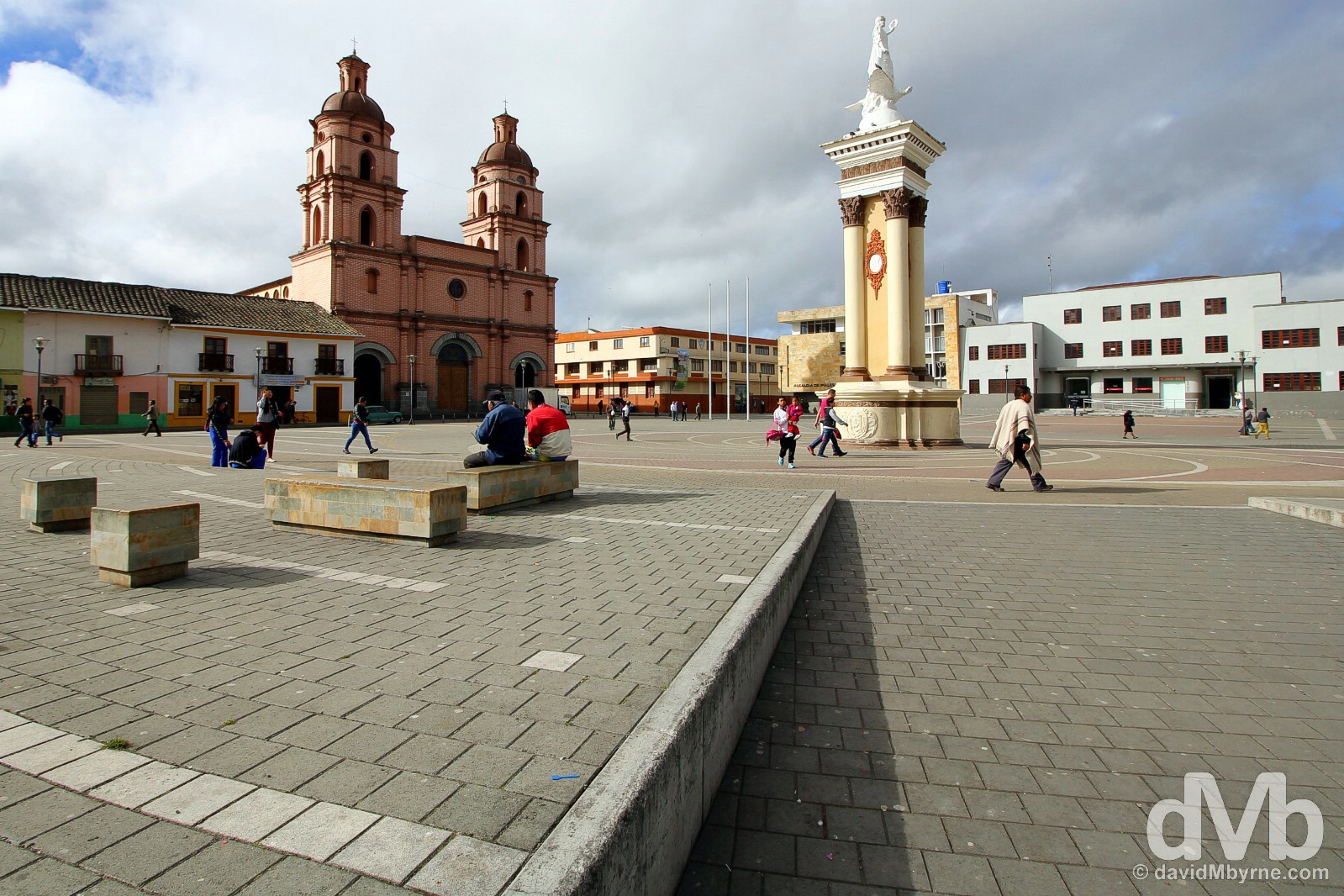 Plaza Ipiales in the border town of Ipiales, southern Colombia. July 2, 2015.
