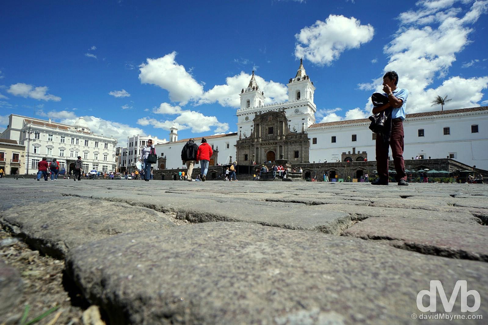 Plaza San Francisco, Quito, Ecuador. July 4, 2015.