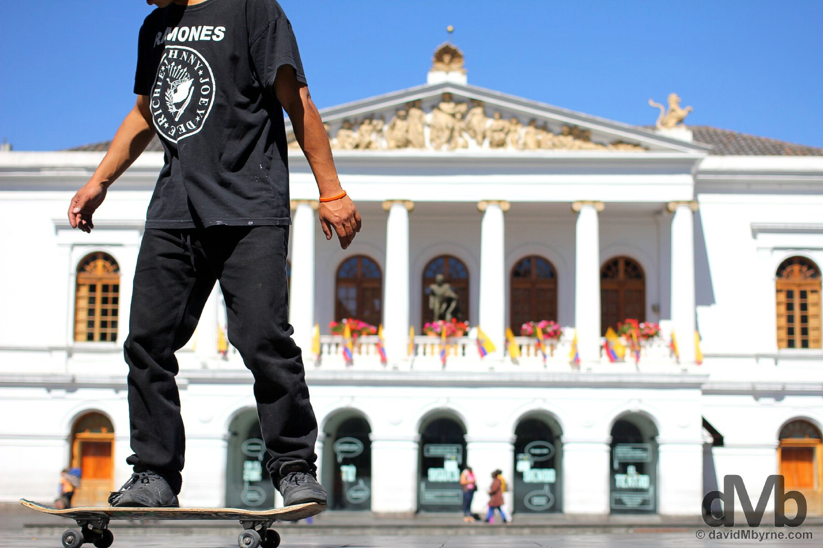 Plaza del Teatro in Quito, Ecuador. July 3, 2015.
