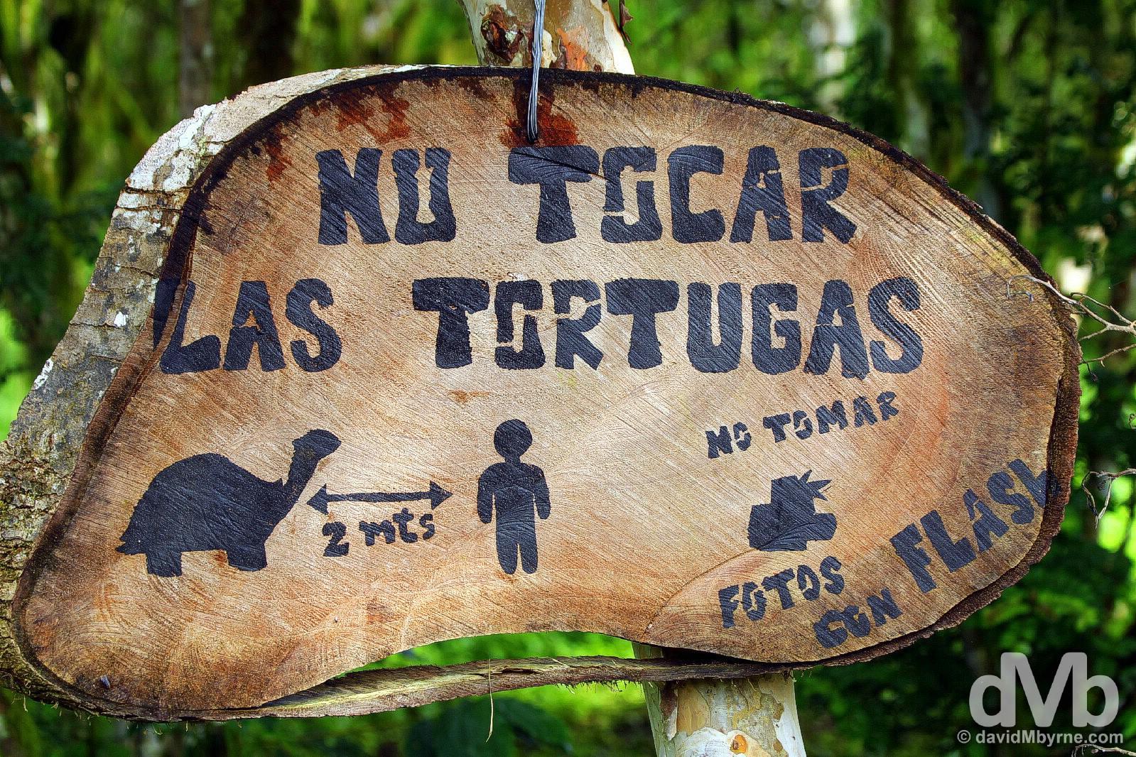 Rancho Primicias on Isla Santa Cruz, Galapagos, Ecuador. July 17, 2015.