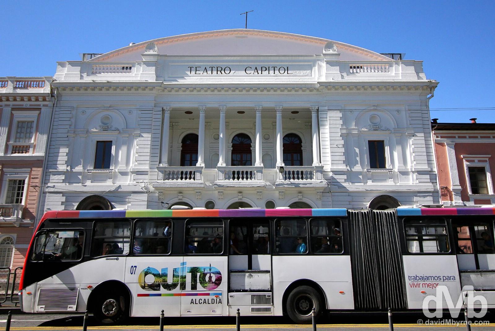 Teatro Capital, Avenida Gran Colombia, Quito Ecuador. July 3, 2105.