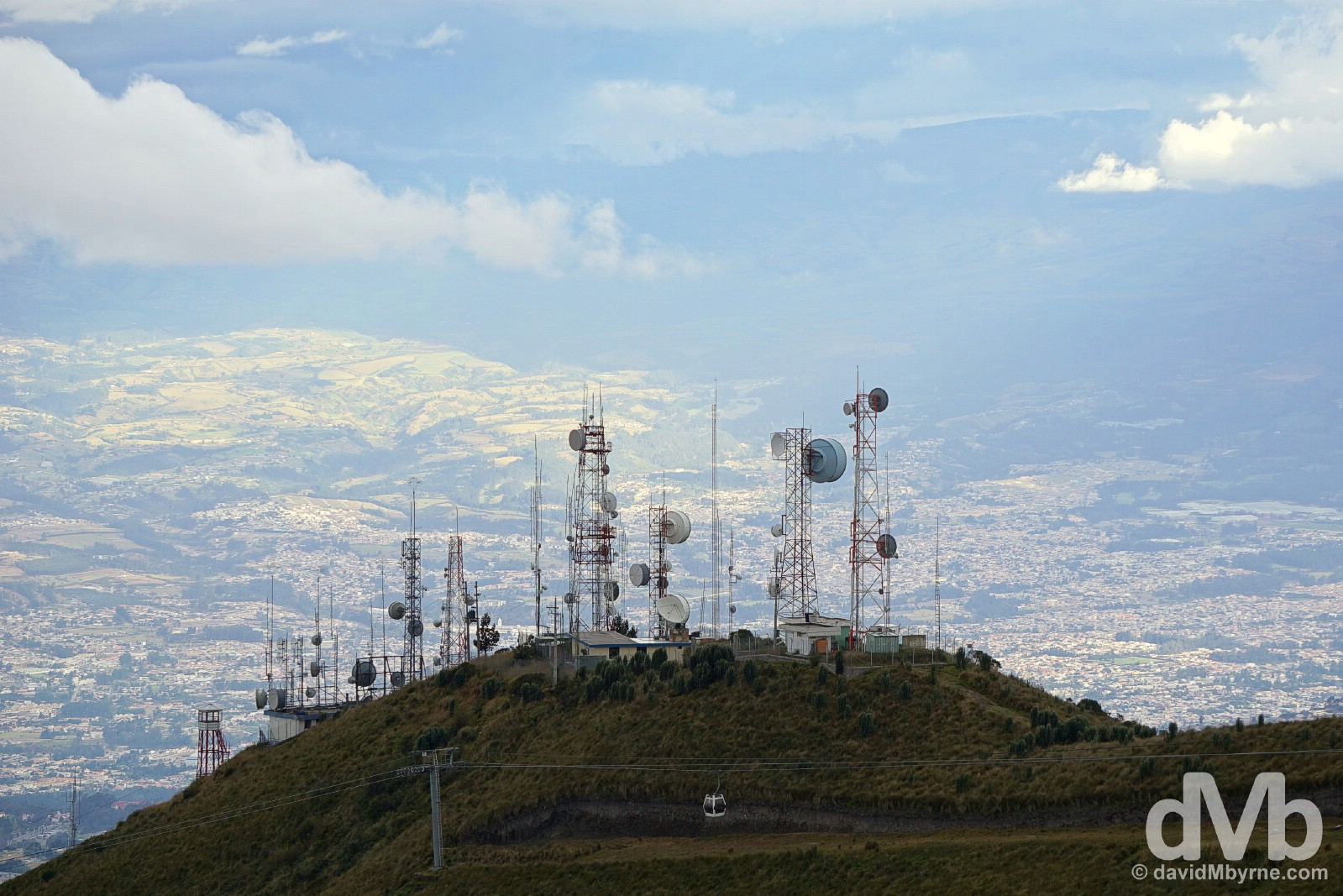 Teleferiqo on Cruz Loma overlooking Quito, Ecuador. July 5, 2015.
