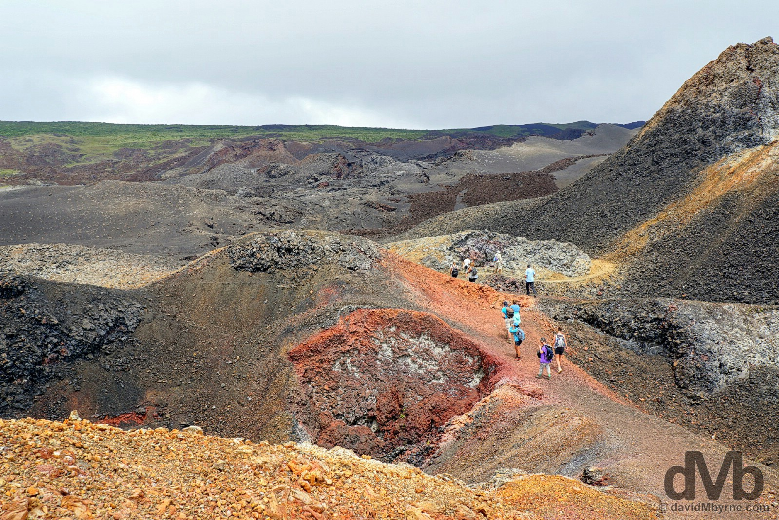 The volcanic landscape of Volcan Chico on Isla Isabela, Galapagos, Ecuador. July 20, 2015.