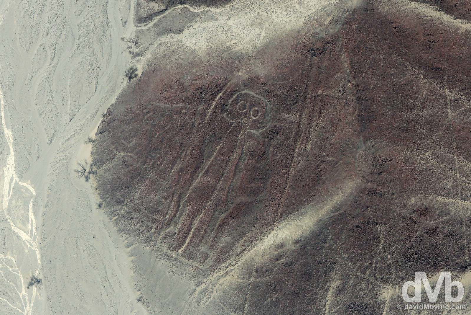 The Astronaut of the Nasca Lines, Nasca Plain, southern Peru. August 11, 2015.