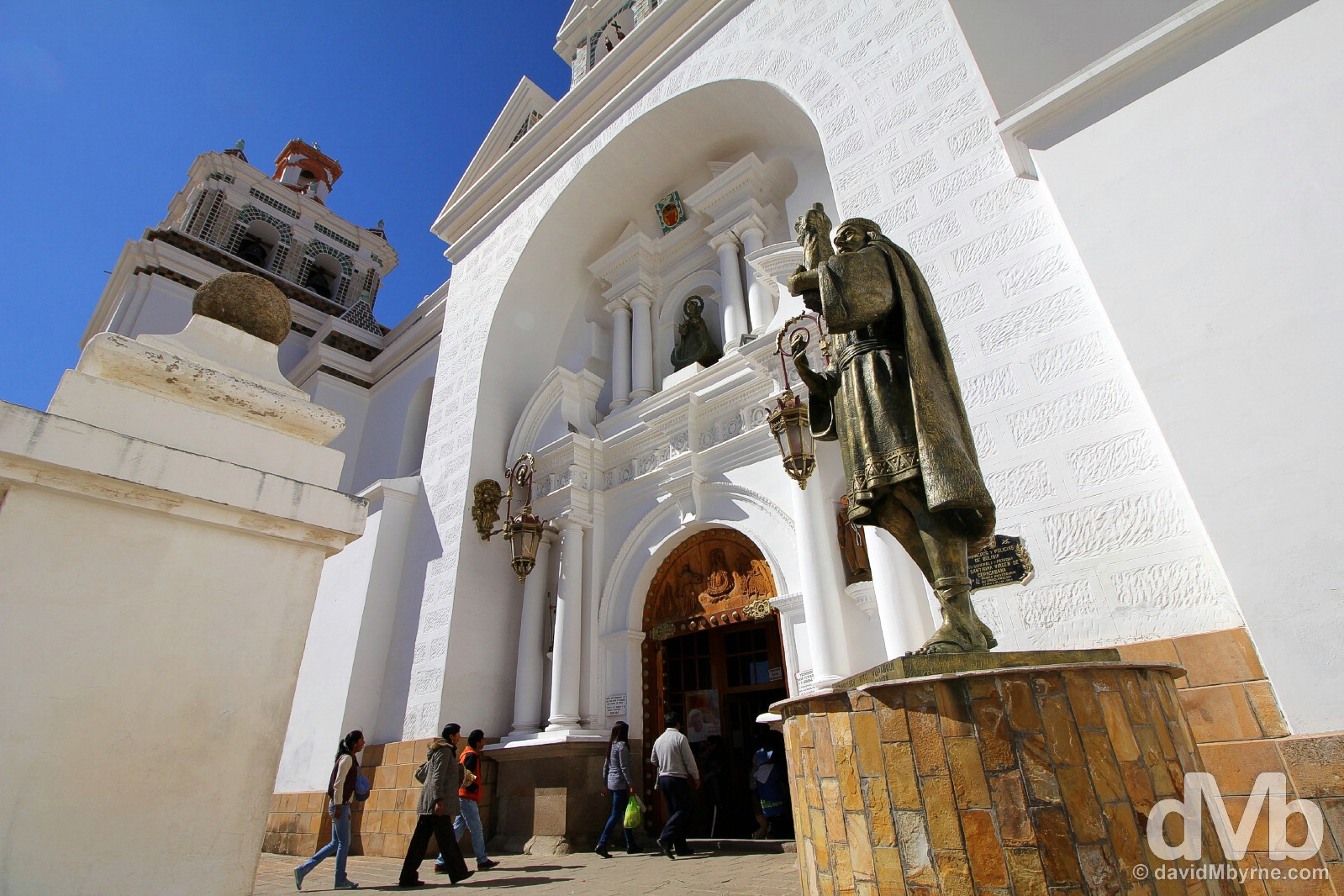 The Catedral in Copacabana, Bolivia. August 23, 2015.