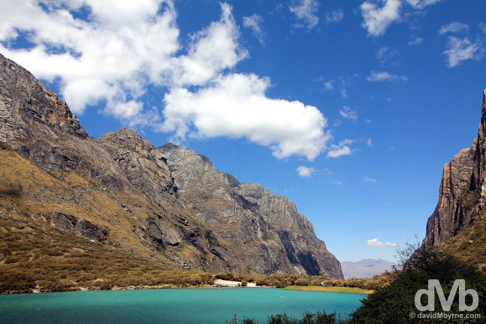 Lago (Lake) Chinan Cocha in Parque Nacional Huascaran, Ancash, Peru. August 5, 2015.