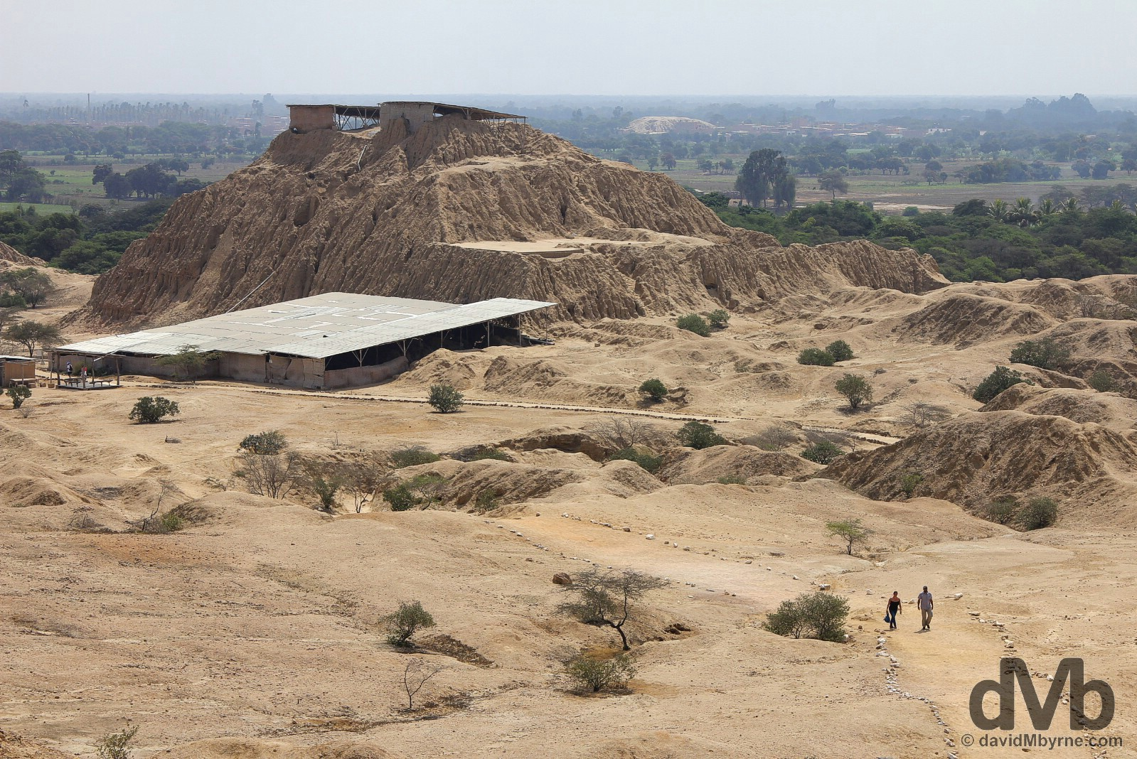 Huaca 1 (Temple 1) of the Tucume Archaeological Complex outside the modern-day village of Tucume, northwestern Peru. July 30, 2015.