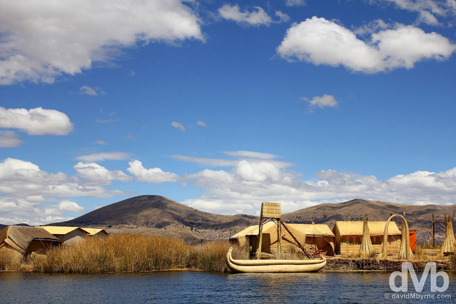 Uros floating Islands, Lake Titicaca, Peru. August 19, 2015.