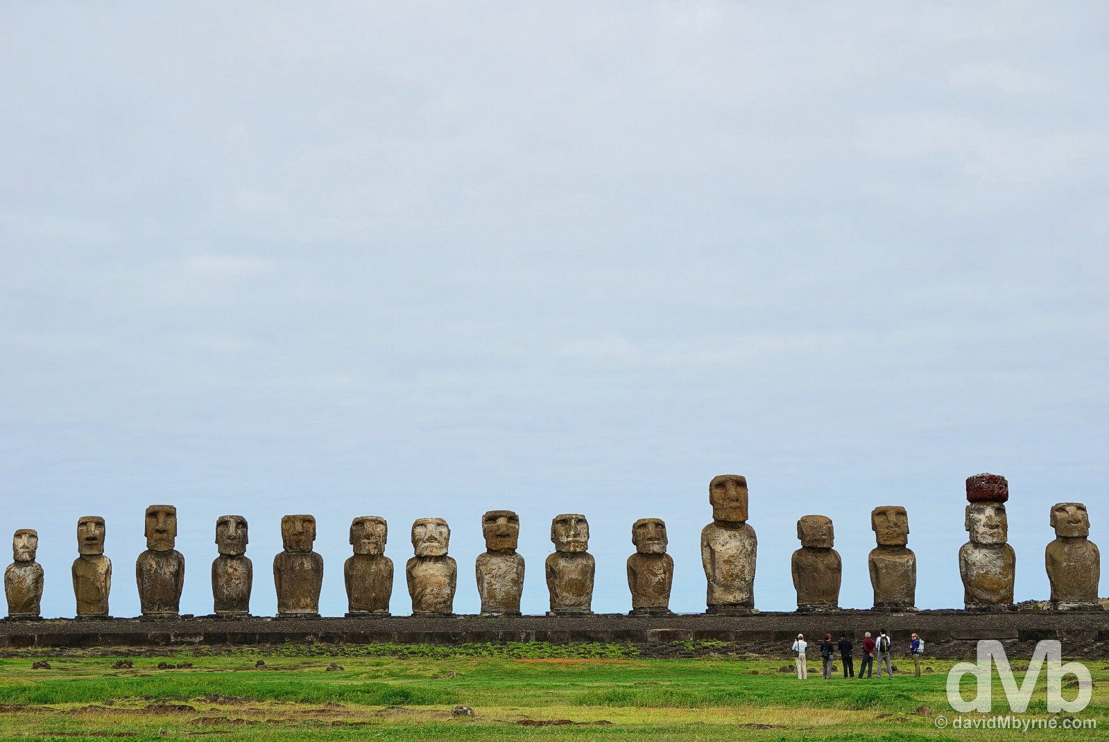 Ahu Tongariki, Easter Island, Chile. September 29, 2015.