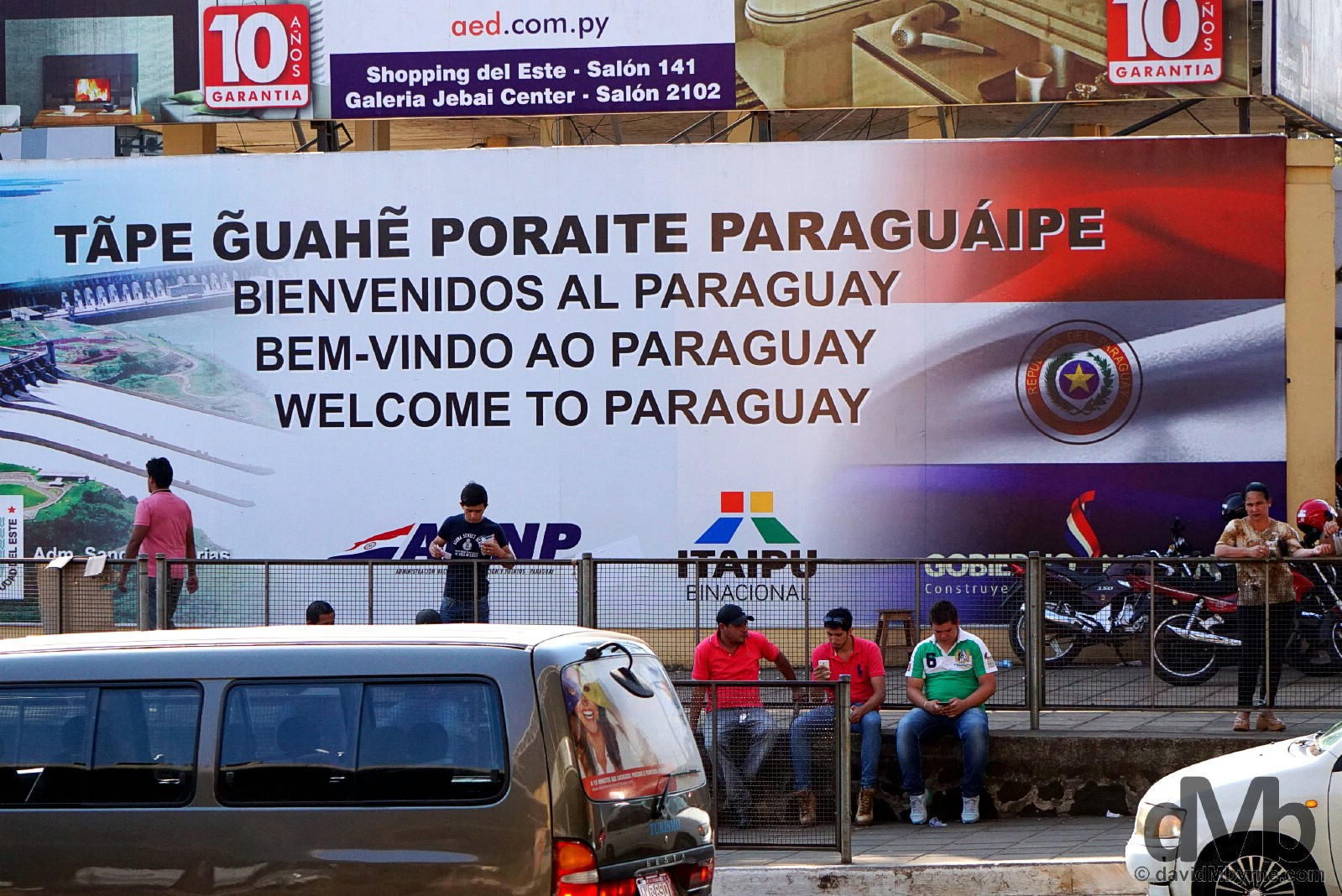 Welcome to Paraguay. Captured leaving the Paraguayan border city of Ciudad del Este to cross the Friendship Bridge into Brazil. September 15, 2015.