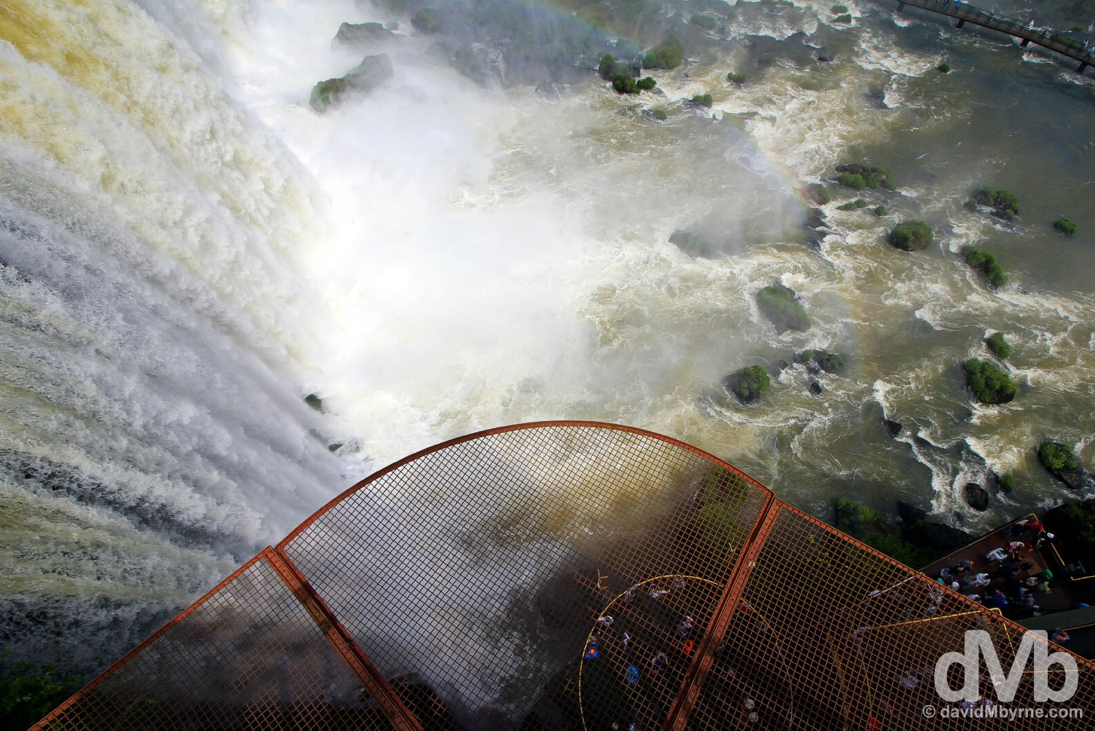 Elevator at Iguazu Falls in Parque Nacional Do Iguacu, Brazil. September 12, 2015.