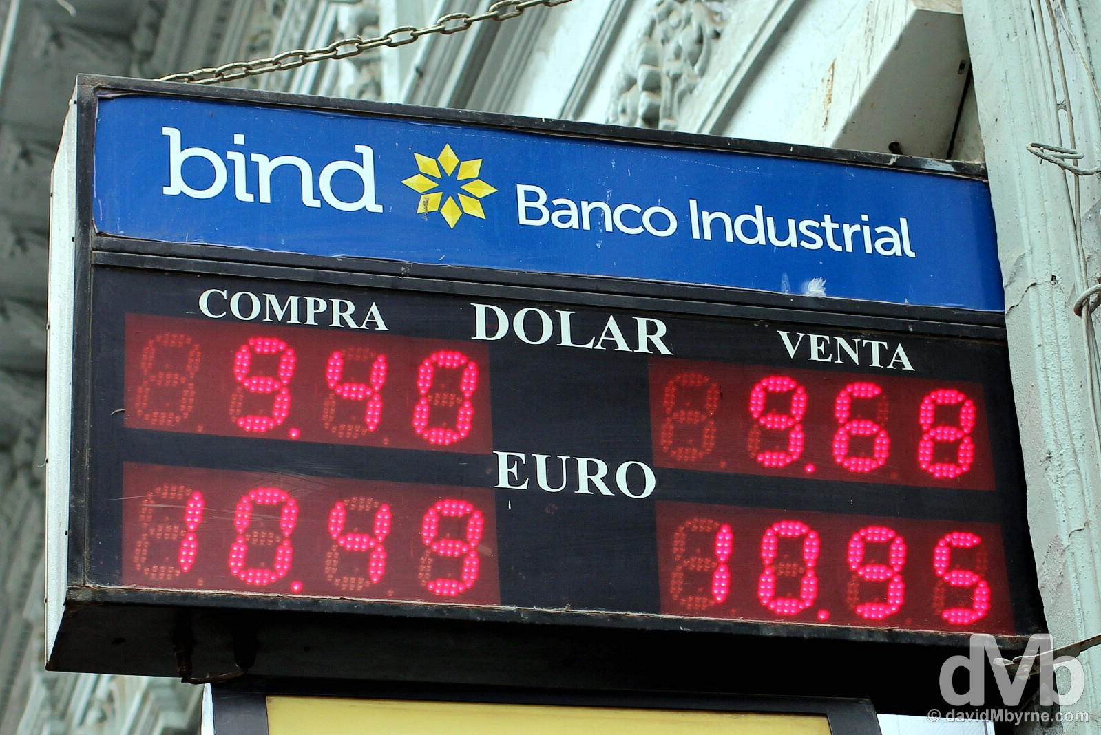 'Official' exchange rates on the streets of Cordoba, Argentina. September 23, 2015.