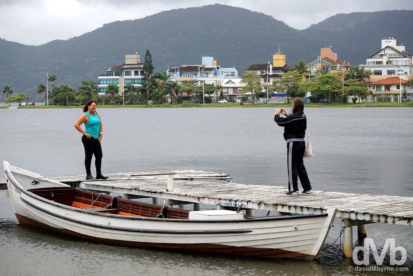 Lakeside in Centrinho da Lagoa on Ilah Santa Catarina, Brazil. September 17, 2015.