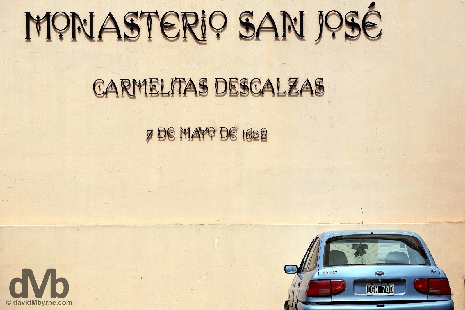 The 1628 Monastero San Jose, a working Carmelite monastery in Cordoba, Argentina. September 24, 2015.