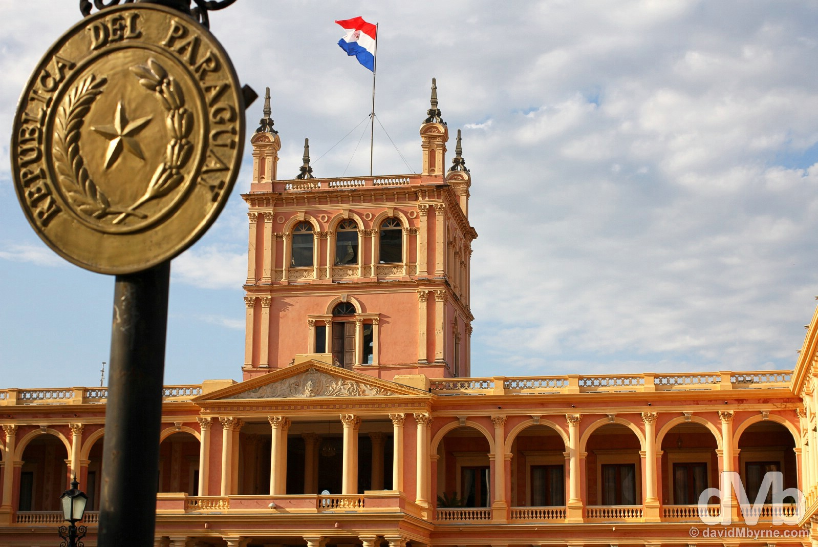 The Paraguayan seat of government, the Placio de Gobierno in Asuncion, Paraguay. September 9, 2015.
