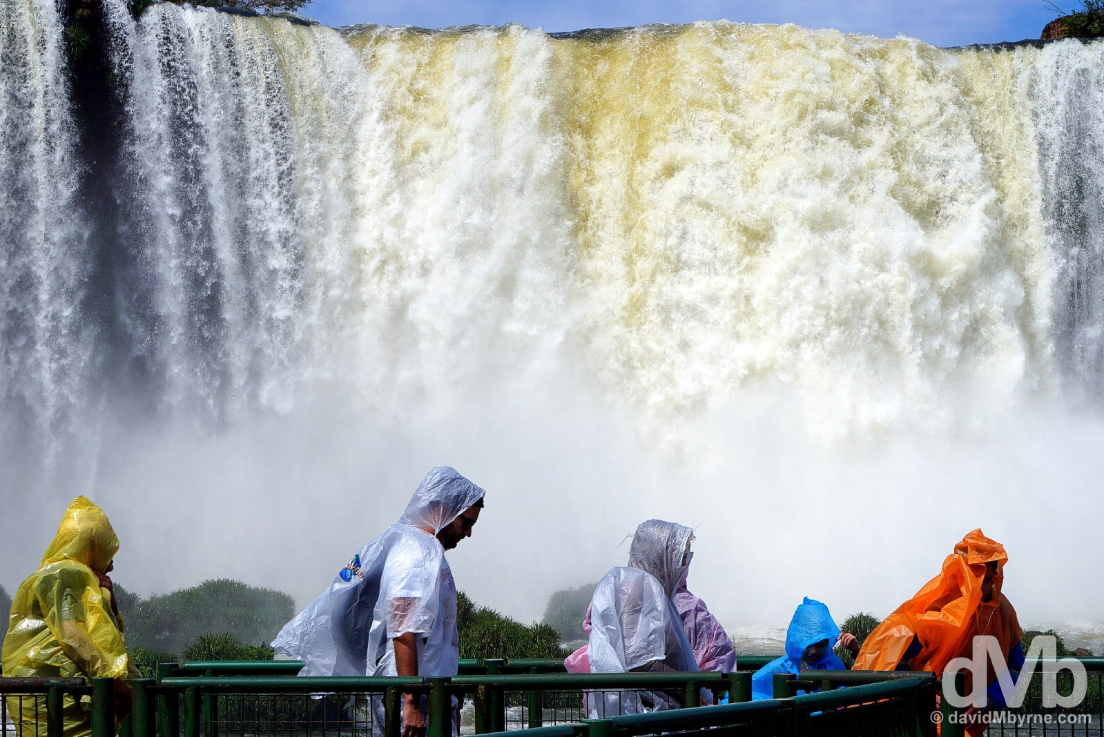 Iguazu Falls in Parque Nacional Do Iguacu, Brazil. September 12, 2015.